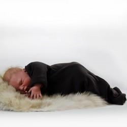 Ärmelschlafsack aus Merinowolle Feinrippstrick