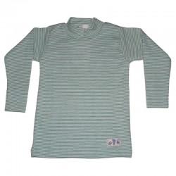 Shirt mit Stehkragen aus Wolle/Seide