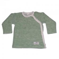 Wickel-Pulli/Shirt/Jäckchen aus Woll-Frottee kbT