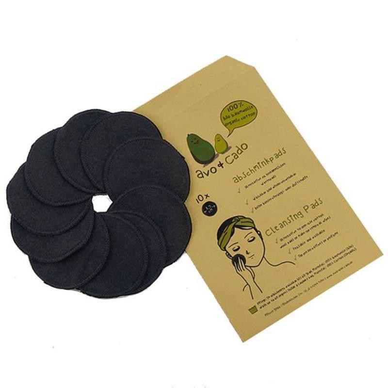 Abschminkpads schwarz aus Bio-Baumwolle