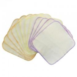 Flanell-Frottee-Waschlappen 12er Pack ca. 19 x 20 cm aus Baumwolle