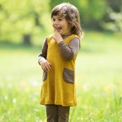 Baby-Sommer-Kleidchen aus Wolle-Seide Feinripp