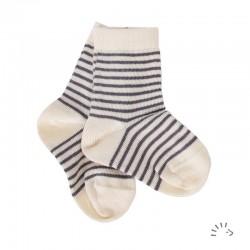 Socken aus Bio-Baumwolle kbA uni oder geringelt