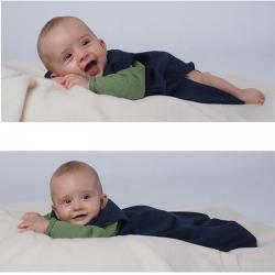 Schlafsack ohne Arm aus Bio Wolle/Seide Frottee
