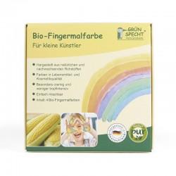 Bio Fingermalfarben 4 Farben - Set (rot, gelb, grün, blau)