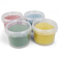 Bio Soft Knete 4 Farben - Set (rot, gelb, grün, blau)