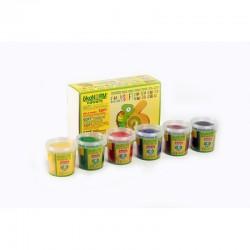 ökoNorm Soft Knete 6 Farben - Set A (rot, gelb, grün, blau, braun,...
