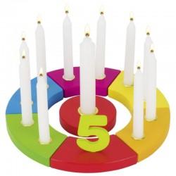 Geburtstagskranz Regenbogen mit Zahlen 1-10