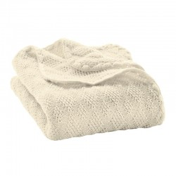 Woll-Babydecke Rautenstrick aus Merino-Wolle k.b.T.