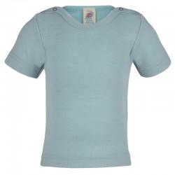 Baby-Kurzarm-Shirt aus Wolle-Seide Feinripp