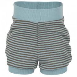 Baby-Spielhöschen geringelt aus Wolle/Seide