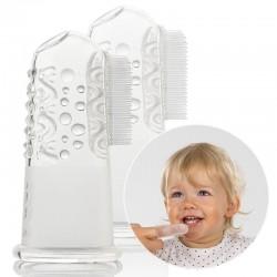 Finger-Zahnbürste aus Silikon (2 Stück)
