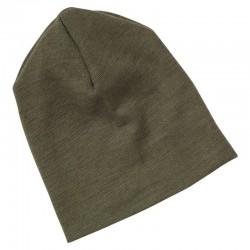 Baby-Mütze doppellagig aus Wolle-Seide Feinripp