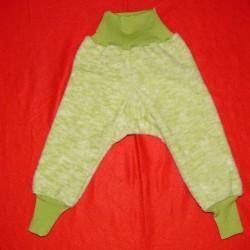 Babyhose aus Woll-Fleece kbT. mit Spickel und hohem Bund