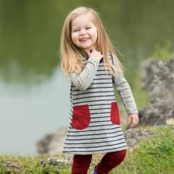 Baby Kleidchen aus Schurwoll-Frottee k.b.T. inside-out