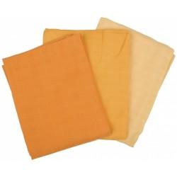 Mullwindeln farbig 3er Pack 70x70 cm, Bio/Nicht Bio