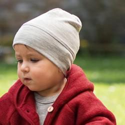 Baby-Mütze aus Wolle-Seide
