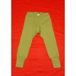 Baby-Hose lang aus Wolle-Seide, uni oder geringelt