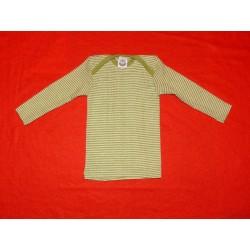 Baby-Schlupfhemd Wolle-Seide mit langem Arm uni oder...