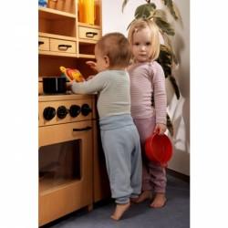 Baby-Schlupfhemd mit langem Arm, Wolle-Seide