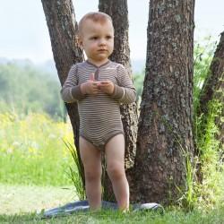 Baby-Body, langarm, mit Druckknopf vorne