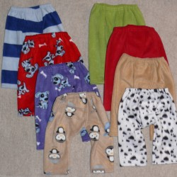 Fleece-Splitpants uni oder gemustert