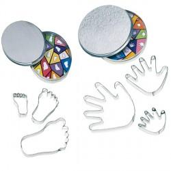 Ausstechformen in Dose - Buchstaben, Hände oder Füße