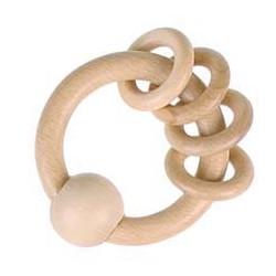 Greifling mit 4 Ringen natur