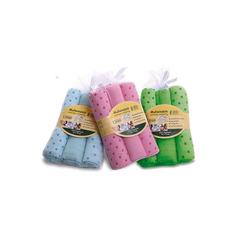 Baby Bio Molton Tücher Windel Einlagen Spucktücher kbA ungebleicht  2 Stück