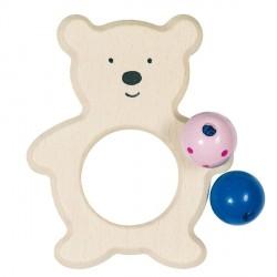 Greifling Bär mit Perlen
