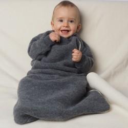 Fleece-Schlafsack mit Arm Bio Merino-Wolle k.b.T.
