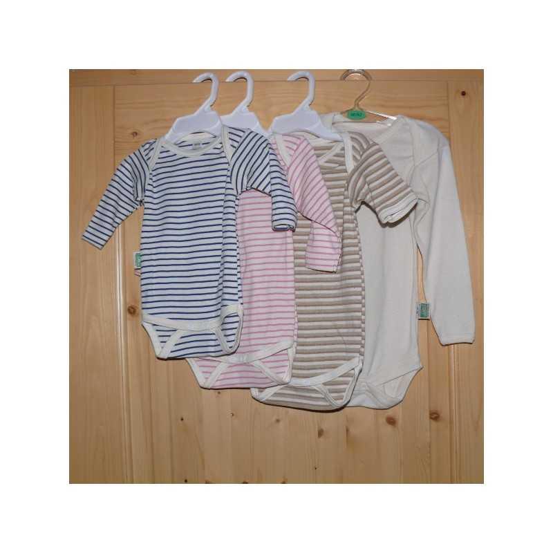 8e71f1d06cb587 Bequeme Bodys für den Alltag aus reiner Baumwolle kbA in natur oder  Ringeldesign mit langen oder kurzen Ärmeln.