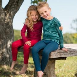 Kinder-Shirt mit langem Arm,Wolle-Seide