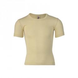 Kurzarm-Shirt/Unterhemd für Kinder, Bio Wolle-Seide