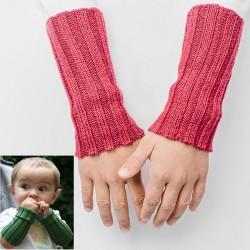 Kinder-Pulswärmer aus Baby-Alpaka