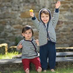Baby-Hose lang mit Nabelbund, aus Schurwoll-Frottee kbT