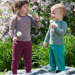 Baby Hose lang mit Nabelbund, Wolle-Seide