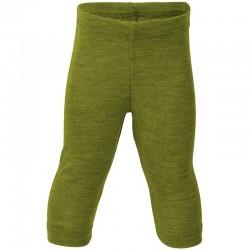 Baby Leggings uni oder geringelt, Wolle-Seide