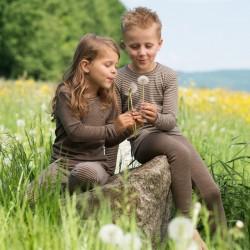 Kinder-Leggings aus Wolle-Seide-Feinripp