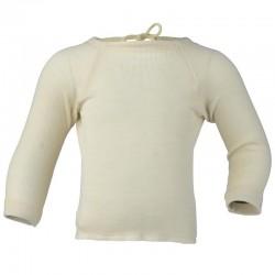 Baby-Flügelhemd mit langem Arm, Wolle-Seide