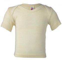 Kurzarm-Schlupfhemd, Wolle-Seide