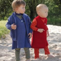 8e0927c06e Baby Leggings uni oder geringelt, Wolle-Seide