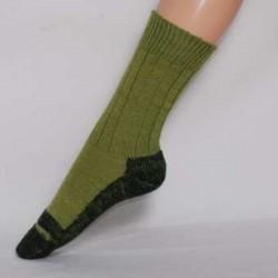 Trecking-Socke aus Bio-Schurwolle k.b.T. zweifarbig