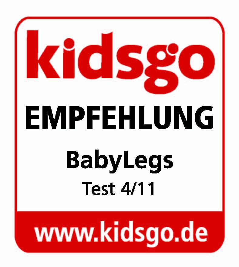 kidsgo Empfehlung Babylegs Testsiegel